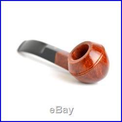 Pipa Savinelli Punto Oro Gold Liscia Lucida 623 Bent Rhodesian Smoking Pipe Pfei