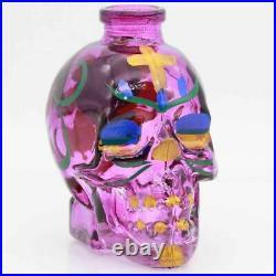 Purple Small Hookah Glass Pipe Skull Water 4 Smoking Tobacco w Hose Shisha