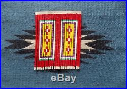 QUILLED SLAT TOBACCO (PIPE) BAG PLAINS style Repro (Beadwork/Quillwork)