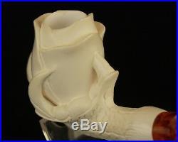 ROSE IN CLAW Block Meerschaum Smoking Tobacco Pipe Pipa Pfeife + CASE AGV-2227