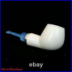 Reverse Nose Warmer Block Meerschaum Pipes, Carved Smoking Pipe, Tobacco, AGM450