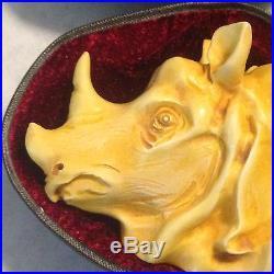 Rhinoceros Pipe BY SADIK YANIK Block Meerschaum NEW With CASE Tobacco Smoking