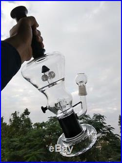 Royal Clear Water pipes Smoking Glass Bongs With Tire Percolator Bird Cage Shape