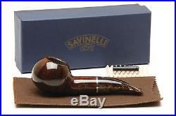 Savinelli Marron Glace 320 KS Smooth Brown Tobacco Pipe