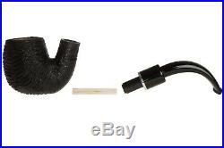 Savinelli Otello 614 Rustic Tobacco Pipe Bent Billiard