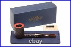 Savinelli Roma Rustic 412 KS Lucite Stem Tobacco Pipe 5238K