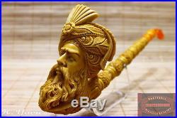Saxophone Ottoman Sultan Meerschaum Smoking Tobacco Pipe Pfeife Pipa By H Yavuz