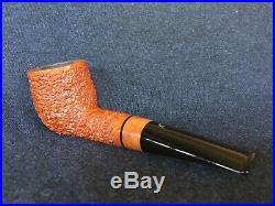 Ser Jacopo Rusticated Billiard Tobacco Pipe (R2) With A Briar Accent