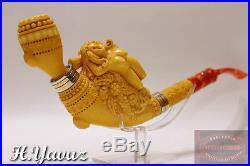 Shiny Lady In Wine Yard Collectible Meerschaum Smoking Pipe Pfeife By H Yavuz