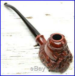 Smoking Pipe For Tobacco Hand Carved Wooden Gimli Gandalf Lord of The Rings Gift