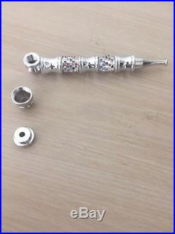 Smoking Pipes Silver Metal Tobacco Herb weed pipe +Free silver Screen Gift