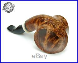 Smoking Pipes Wooden Carved (Freehand with white lined single groove stem)