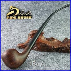 Smooth BRIAR wood TOBACCO smoking pipe LONG CLARHER LOTR Churchwarden