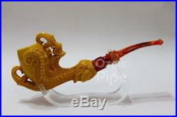 Smooth Egg In Wild Dragon Claw Meerschaum Tobacco Pipe Pfeife Pipa By Kenan