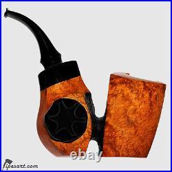 Smooth Reverse Calabash Sculptural Freehand Smoking Pipe By Master Mustran