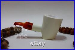 Smooth Sitter Poker Classic Shape Meerschaum Smoking Tobacco Pipe Pipa Pfeife