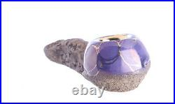 Stone Pipe-22K Gold-Smoking Pipe-Premium Accessories-Celebration Pipe-Purple