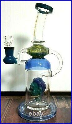 TATTOO Hookah Water Pipe Smoking Bong Glass 11'' Bubbler Waterpipe tobacco pipe