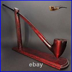 TOBACCO SMOKING PIPE + STAND Gandalf Hobbit Lotr 83 CHURCHWARDEN LONG 14 RED