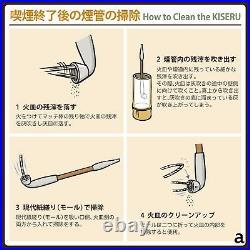 TSUGE Kiseru ASAKUSA RYU Rising Dragon 210mm Long Smoking Pipe Silver Bamboo NEW