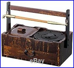 TSUGE Kiseru Ashtray Cherry Wooden Box Complete set IPPUKU Smoking Pipe case NEW