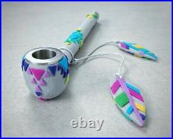 Tobacco pipe Smoking pipe Smoking bowl Metal pipe Gadzyl pipe Long Tribal pipe