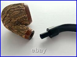 Tom Spanu Cork Wrapped Briar Tobacco Pipe Unsmoked Italian