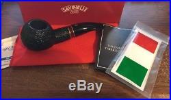 Unsmoked Savinelli St Nicholas 2016 Rustic 320 Tobacco Pipe
