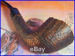 Unsmoked Vintage Tsuge MIZKI 943 brown blast tobacco pipe-in generic box+sleeve