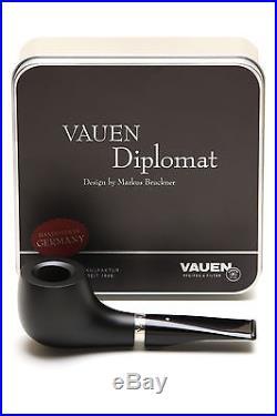 Vauen Diplomat Matt Black D1 Tobacco Pipe