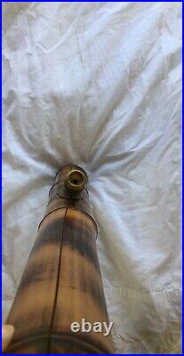 Very Collectable Vtg 70s Dark Bamboo unused Tobacco Pipe Unused 23 Inch bong