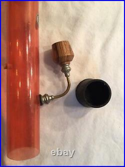 Very Collectible Glass Head Unused VTG Tobacco Pipe 70s Bong Cracked At Stem