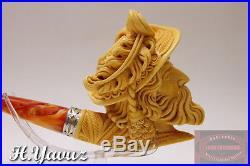 Vintage Cavalier Pull/push Tenon Meerschaum Smoking Pipe Pfeife By H. Yavuz