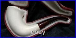 Vintage Smooth Meerschaum Smoking Pipe Pfeife Pipa Model 0228