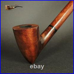 WOODEN SMOKING PIPE + STAND Gandalf Hobbit Lotr 83 CHURCHWARDEN LONG 14 Brown