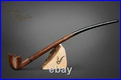 WOODEN TOBACCO SMOKING PIPE BRIAR Lotr Gandalf Hobbit 91 CHURCHWARDEN Brown