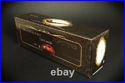 WOODEN TOBACCO SMOKING PIPE CHURCHWARDEN no 54 Rustick Black LONG PEAR + BOX
