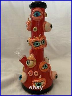 Water Glass Bong Hookah Pipe Eyeball Smoking Pipe Ice Catcher Eye Monster Beaker