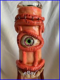 Water Glass Bong Hookah Pipe Heavy Smoking Pipe Ice Catcher Glow Monster Beaker