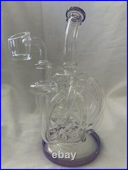 Water Glass Bong Hookah Pipe Smoking Pipe Ice Catcher Octopus Monster Beaker New