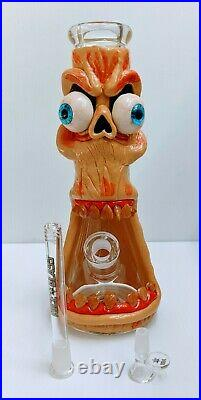 Water Pipe Hookah 13 3D Monster Design art thick glass tobacco pipe