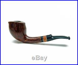 Wooden Carved Smoking Pipes Collectible (Extended shank with Briar ring stem)